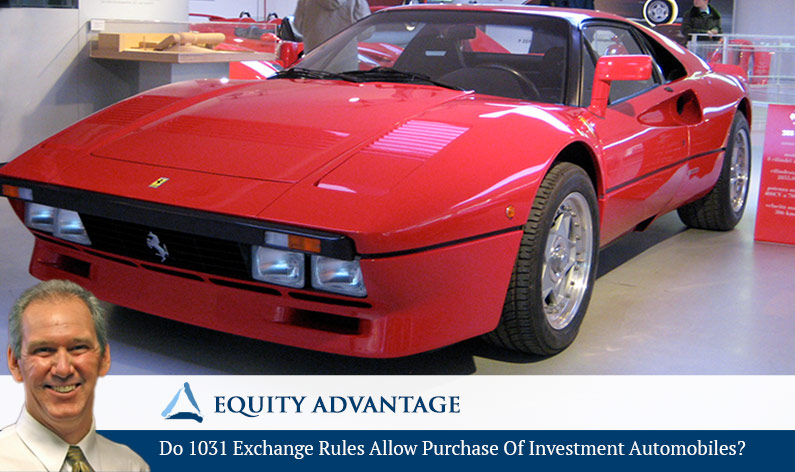 Do 1031 Exchange Rules Allow Purchase Of Investment Automobiles