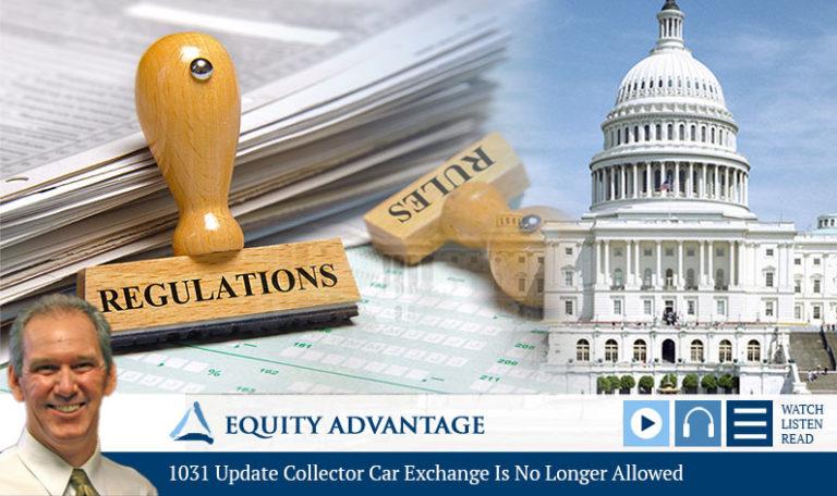 1031 Update: Collector Car Exchange Is No Longer Allowed