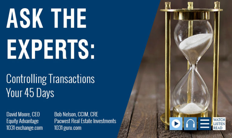 David Moore Joins Bob Nelson To Talk About Controlling Transactions