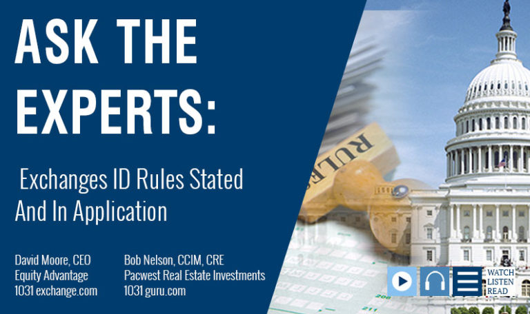 David Moore & Bob Nelson Cover 1031 Exchange Rules For ID