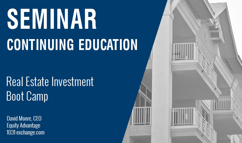 Real Estate Investment Boot Camp Equity Advantage