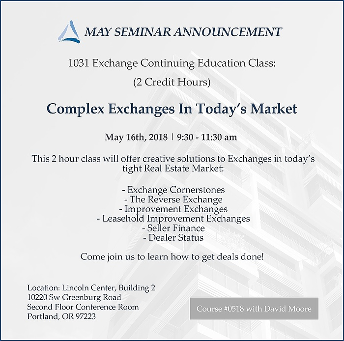 May 1031 Exchange Class