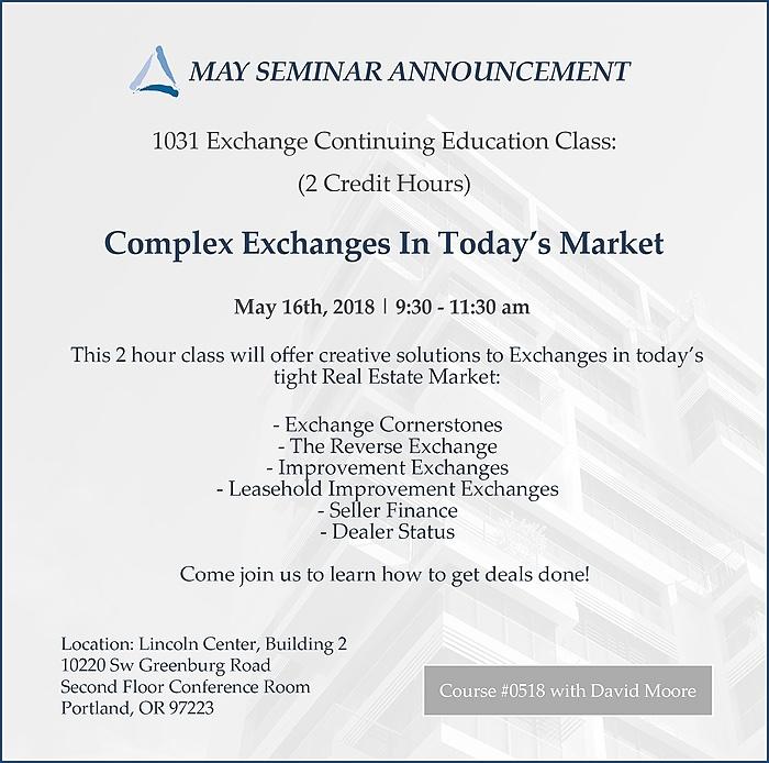May 1031 Exchange Class