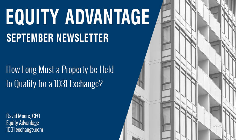 How Long Must a Property be Held to Qualify for a 1031 Exchange
