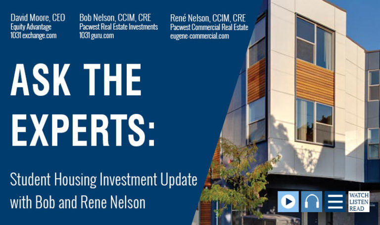 Ask The Experts: Student Housing Investment Update with Bob and René Nelson
