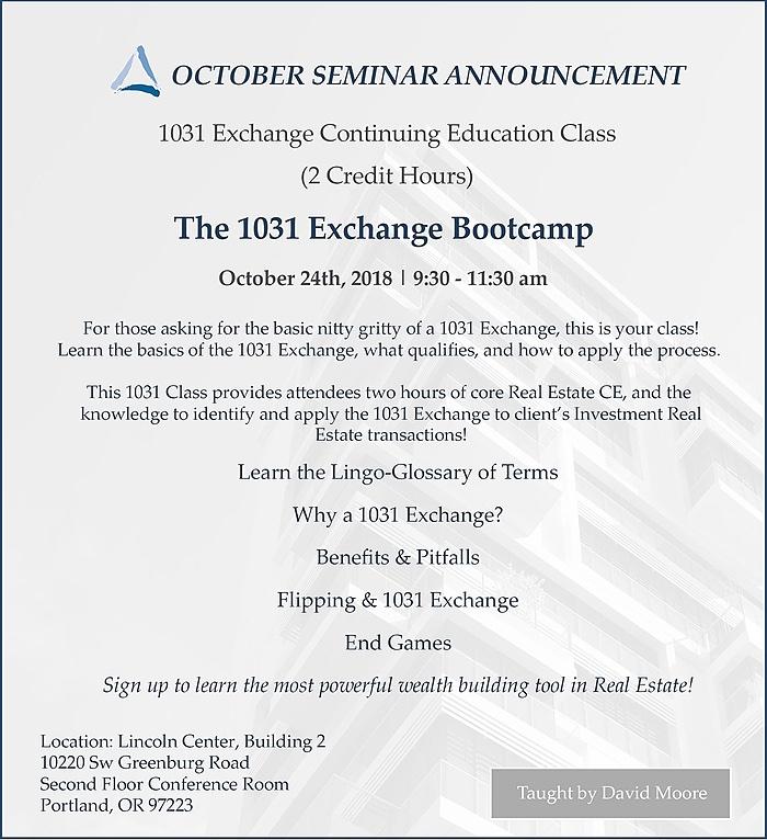 October Equity Advantage Seminar