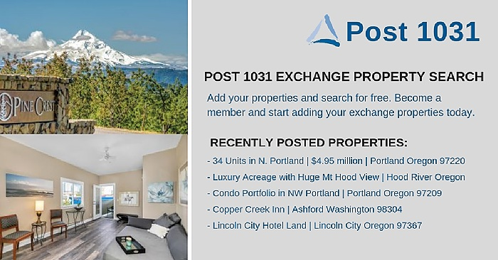 October Post 1031 Listings