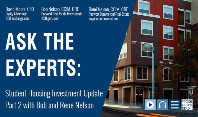 Ask The Experts: Student Housing Investment Update Pt. 2 with Bob and René Nelson