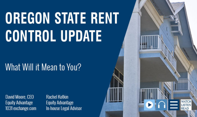 Oregon Statewide Rent Control Update: What Will It Mean To You?