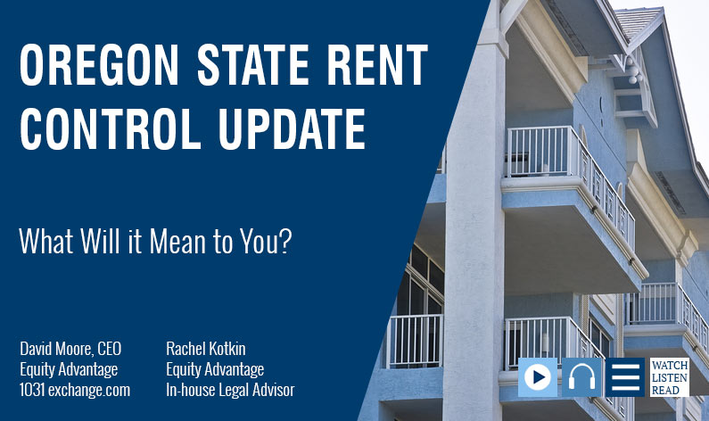 Oregon State Rent Control What Will It Mean to You