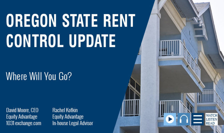 Oregon's Rent Control: Where Will You Go?