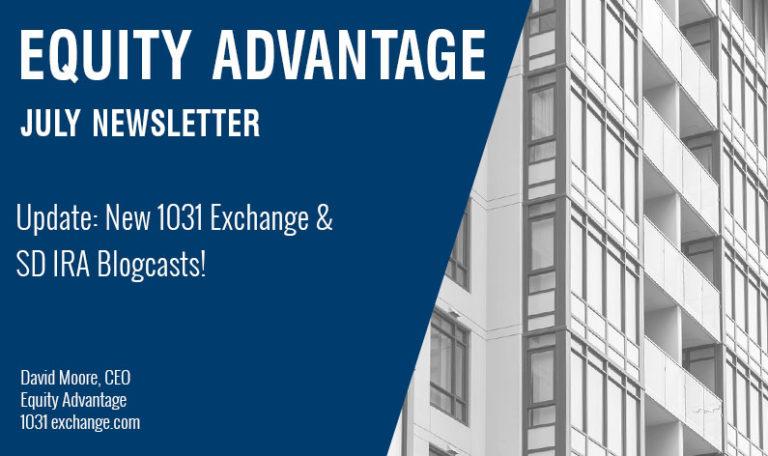 Update: New 1031 Exchange & SD IRA Blogcasts!