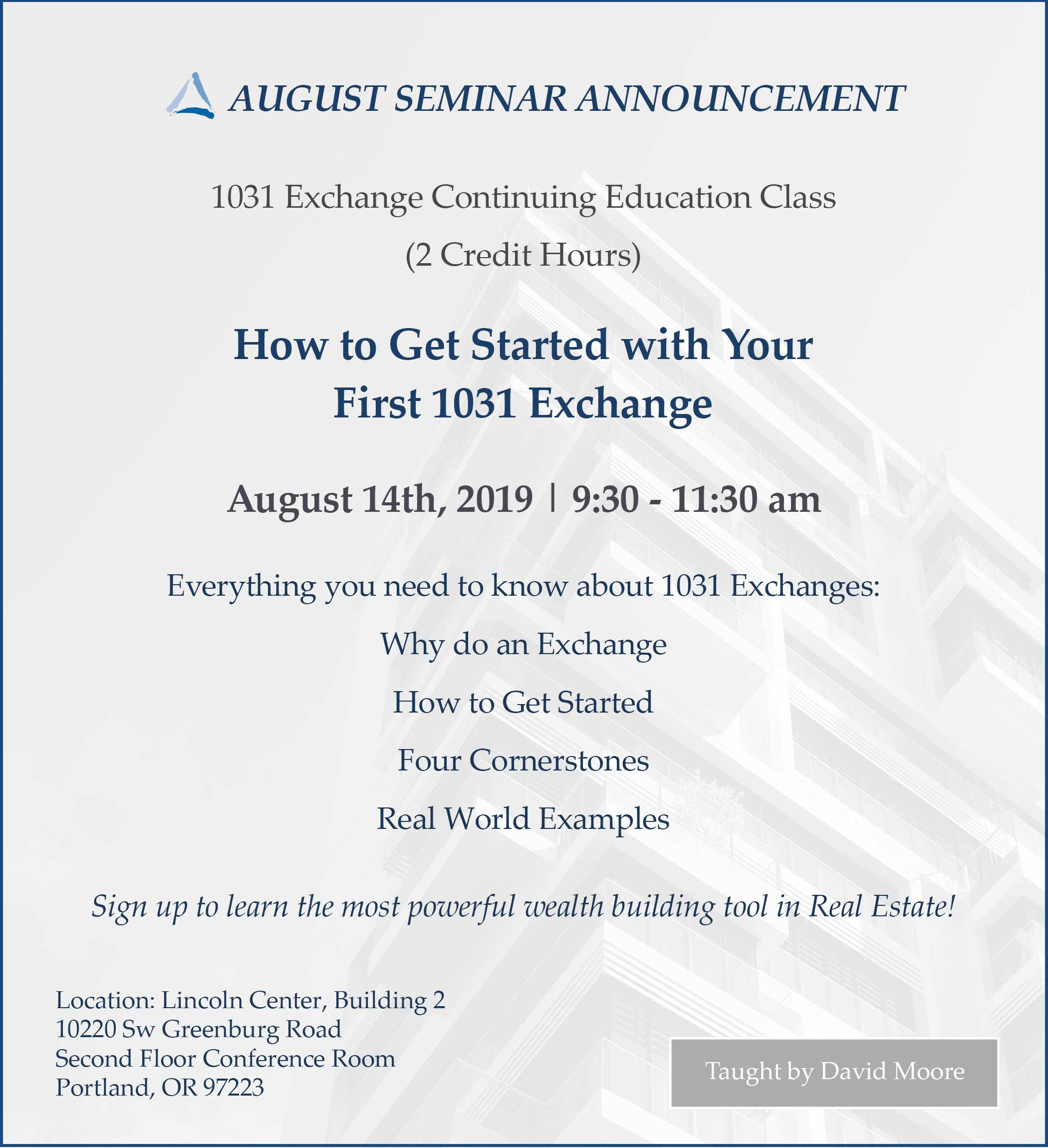 How to get Started with Your First 1031 Exchange