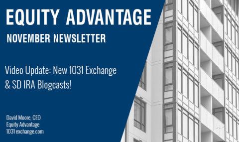 Video Update: New 1031 Exchange & SD IRA Blogcasts!