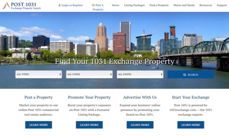 Post 1031 Exchange Property Search
