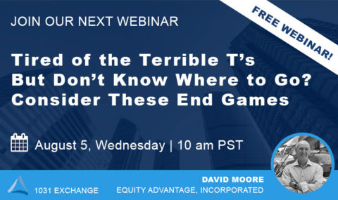 WEBINAR: Tired of the Terrible T's But Don't Know Where to Go? Consider These End Games – Wednesday August 5th, 2020