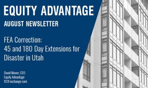 FEA Correction: 45 and 180 Day Extensions for Disaster in Utah