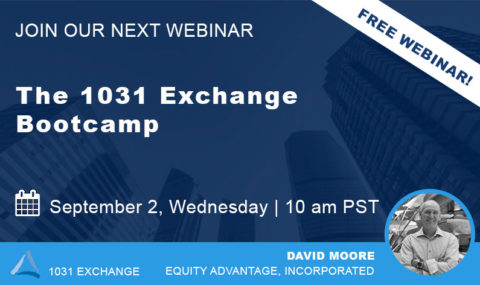 WEBINAR: The 1031 Exchange Bootcamp – Wednesday September 2nd, 2020