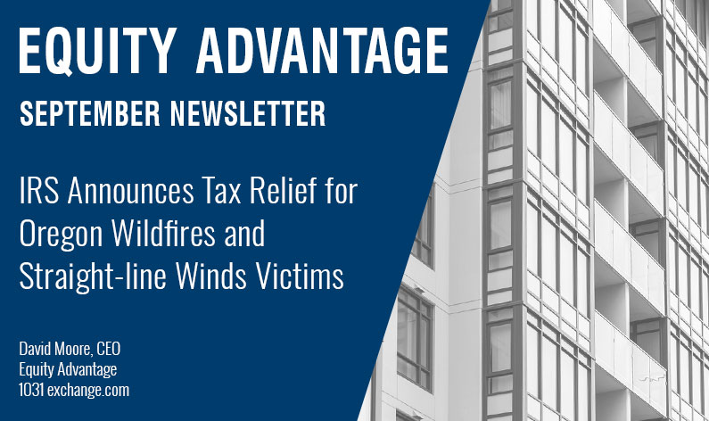 IRS Announces Tax Relief for Oregon Wildfires and Straight-line Winds Victims