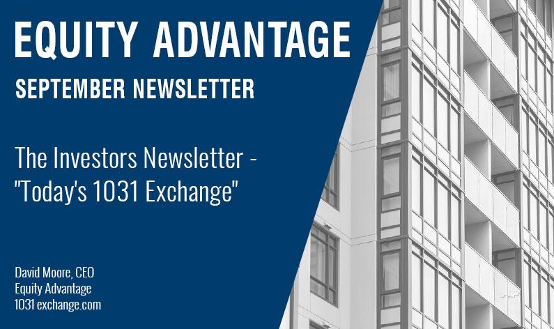 "The Investors Newsletter - ""Today's 1031 Exchange"""