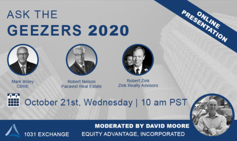 WEBINAR: Ask the Geezers 2020 – Real Estate Panel | October 21st