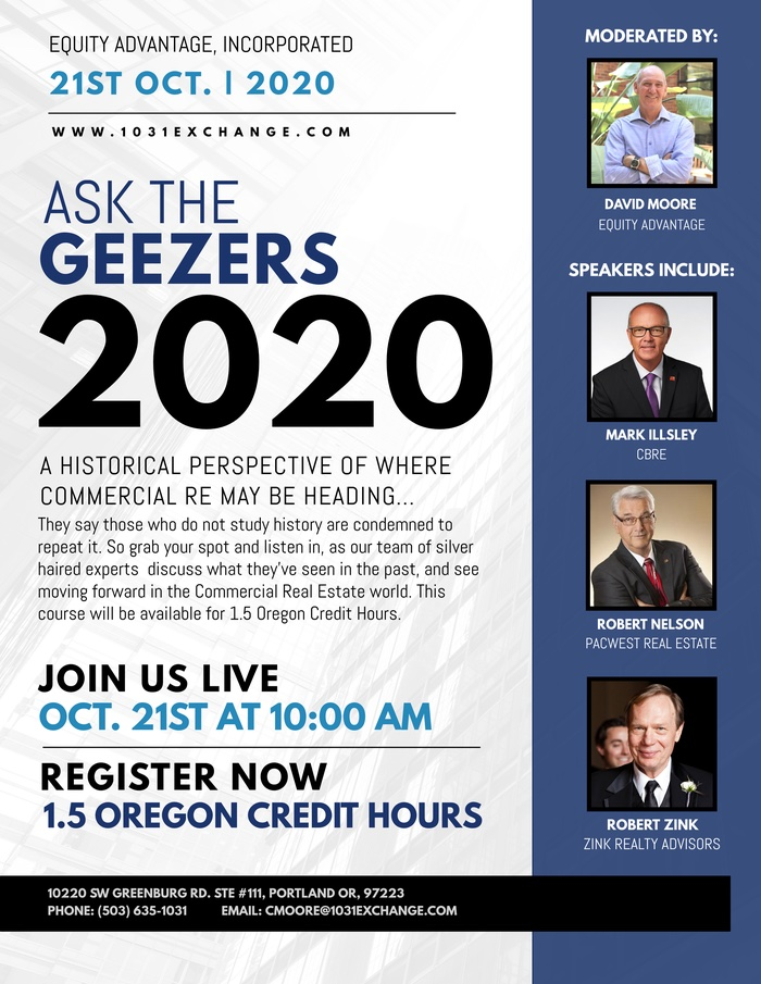 Ask the Geezers 2020 - Real Estate Panel