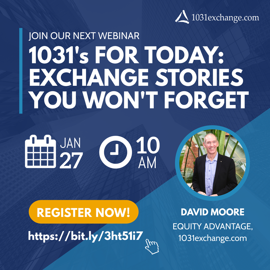1031's for Today - Exchange Stories You Won't Forget Flyer