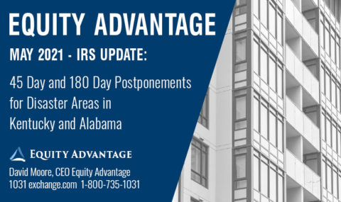 IRS Update! 45 Day and 180 Day Postponements for Disaster Areas in Kentucky and Alabama