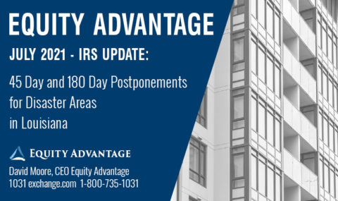 IRS Announces 45 and 180 Day Postponements for Disaster Areas in Louisiana