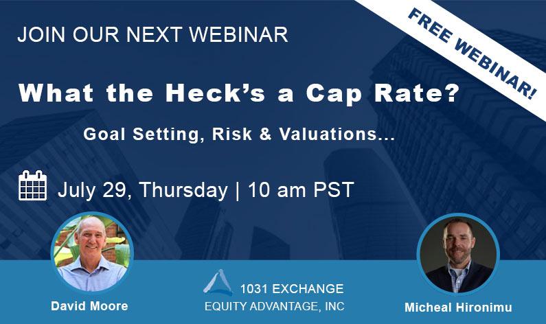 Webinar Cap Rate Goals Risk Valuation