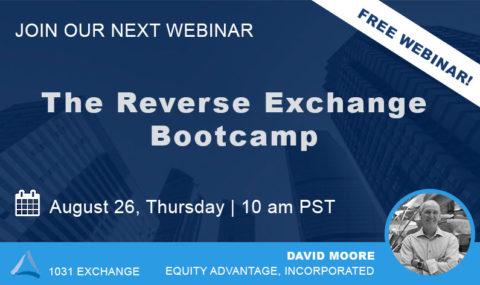 WEBINAR: The Reverse Exchange Bootcamp – Thursday August 26, 2021